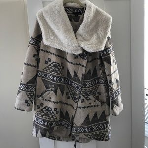 Kendall and Kylie tribal patterned coat